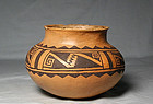 "Jeddito ""Prehistoric Hopi"" black on yellow olla ca. 1325 ad"