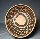 "Jeddito ""Prehistoric Hopi"" black on yellow bowl ca. 1325 ad"