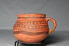 "Jeddito ""Prehistoric Hopi"" black on orange cup ca. 1325 ad"