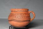 "Jeddito ""Prehistoric Hopi"" black on orange cup ca. 1325 ad"