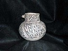 Anasazi / Tularosa Black on White Olla with Dog Head Lug