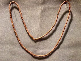 Anasazi Red Clay Bead Necklace, ca. 1250 ad.