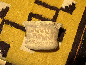 Hohokam red on buff clay censor cir 950 to 1125 ad