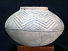 Mesa Verde Very Large Black on White Kiva Jar