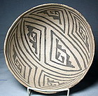 Amazing Anasazi/Black Mesa B/W bowl ca. 1000 ad. NO RESTORATION