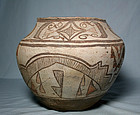 ZUNI POTTERY OLLA polychrome ca 1890 to 1920 ad.