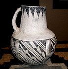 Anasazi/Puerco black on white pitcher cir 1030 to 1150 No Restoration