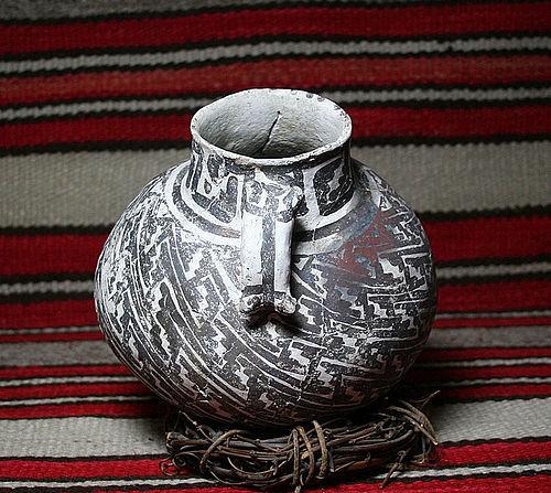 Anasazi Tularosa double effigy animal handle with human
