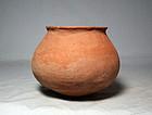 Anasazi / Mogollon plain-ware olla, ca. 1100 ad.