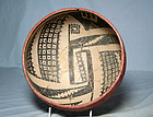 Anasazi / Gila poly-chrome bowl ca 1275 ad