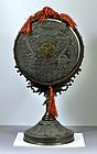 Japanese Bronze Shinto Gong, Signed, Meiji, 19thC.