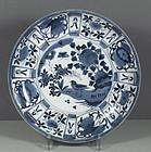 An Unusual Japanese Arita Export Kraak Dish, 17th C.