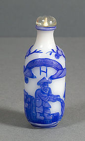 A Chine Double overlay Snuff Bottle, 19thC.