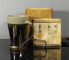 A fine stoneware mug by Sakuma Totaro ( 1900 ~ 1976 ). Tomobako