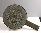 A Good Japanese Bronze Mirror, Meiji. 19th Century.