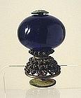 Mandarin Hat Button Transparent Blue 3rd Rank.