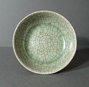 Chinese Yuan / Ming Ge Type Celadon Washer,  13~14 C.