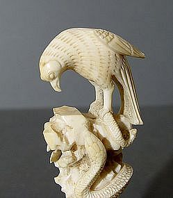 Export Ivory Eagle Seal for the West, 19thC.