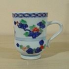 Kangxi Wucai Tall Export Cup, circa 1700