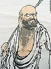 Japanese Scroll Painting, Daruma, Meiji/Taisho.