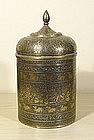 Good Indian brass box, 19th century.