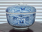 Rare Large Arita Blue & White Box, Late Edo.