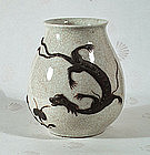 Chinese Dragon and Lingzhi vase. 19thC.