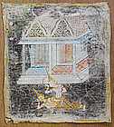 An Old Thai Religious Painting on Cloth #2