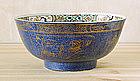 A Powder Blue & Famille Verte Punch Bowl, Kangxi, C1700
