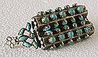 Fine Islamic Silver & Turquoise Pendant, 19C