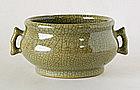 A Ge Type Censer, Ming, 16~17thC, Ex Christie�s.