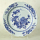 Chinese Export Blue & White Plate, Qianlong, C 1760.