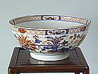 Kangxi Export Imari Punch Bowl, Circa 1720