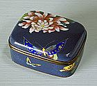 Japanese Cloisonné Box, Meiji.