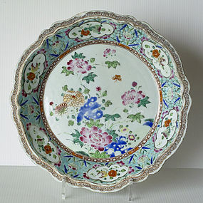 A Chinese Export Famille Rose Dish, mid 18th Century.