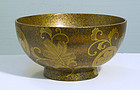 Japanese Gold Lacquer Bowl, 18th ~ 19th Century.