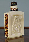 Ivory & Lacquer Snuff Bottle, 19th Century