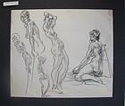 Figural Study JOSEPH DELANEY Nudes Skeletons