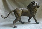 Well Sculpted BRONZE MALE LION