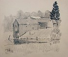 Joshua Thomas Tubby (1875-1958) - 3 Drawings  Maine
