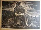 Lino Print ALBERTO BELTRAN Taller Grafica Mexico ca1950