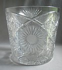 LARGE American Brilliant Cut Sunburst Ice Bucket
