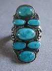 Beautiful Seven Stone Split Shank Navajo Ring