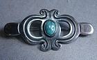 980 Silver & Turquoise TAXCO Brooch