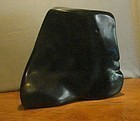 "Modernist Black Marble ""Head""  LILY ENTE 1954 Woodstock"