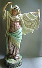Large French/Continental MAJOLICA Figure Gypsy Dancer