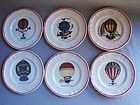 Set 6 LONGCHAMPS Dessert Plates-Hot Air Balloons