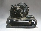 Antique Chinese Bronze Dragon/Chilong Seal 18th Century
