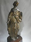 Grand Tour Neo-Classical Bronze Female Figure