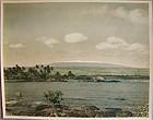 RARE Large Colored Photo of MAUNA KEA from Hilo Bay ca 1930